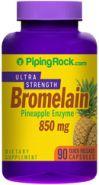 Бромелайн 850мг 90 кап.Протеолитические и пищеварительные ферменты, противовоспалительные